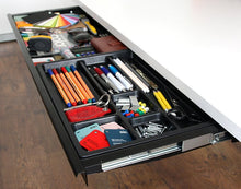 Load image into Gallery viewer, under desk organiser drawer and pencil tray