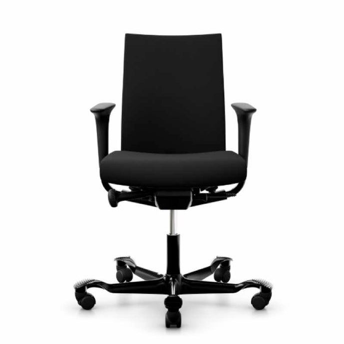 HAG Creed 6004 chair black upholstery and black base