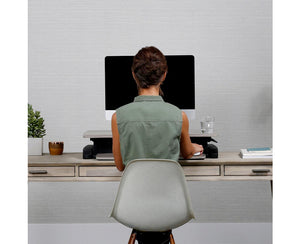 WorkFit-Z Mini Desk Converter sitting position