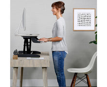 Load image into Gallery viewer, WorkFit-Z Mini Desk Riser with full height extension
