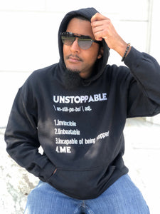 """UNSTOPPABLE"" Unisex Hoodie (7 fashion colors)"