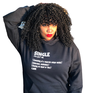"""SINGLE"" Unisex Hoodie (6 fashion colors)"