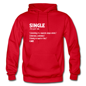 """SINGLE"" Unisex Hoodie (4 fashion colors) - red"