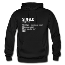 "Load image into Gallery viewer, ""SINGLE"" Unisex Hoodie (4 fashion colors) - black"