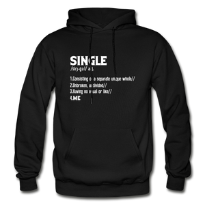 """SINGLE"" Unisex Hoodie (4 fashion colors) - black"