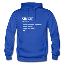 "Load image into Gallery viewer, ""SINGLE"" Unisex Hoodie (4 fashion colors) - royal blue"