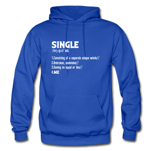 """SINGLE"" Unisex Hoodie (4 fashion colors) - royal blue"