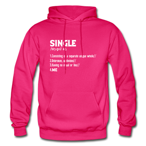 """SINGLE"" Unisex Hoodie (4 fashion colors) - fuchsia"