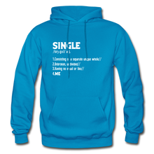 "Load image into Gallery viewer, ""SINGLE"" Unisex Hoodie (4 fashion colors) - turquoise"