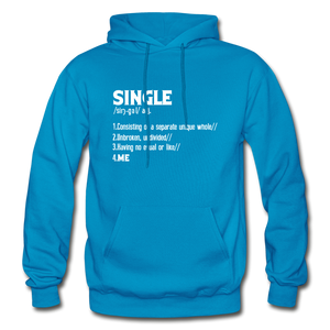 """SINGLE"" Unisex Hoodie (4 fashion colors) - turquoise"