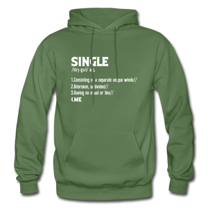 """SINGLE"" Unisex Hoodie (4 fashion colors) - military green"