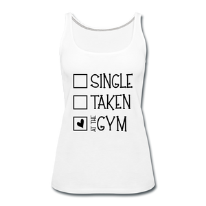 """At the Gym"" Tank (9 fashion colors) - white"