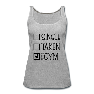 """At the Gym"" Tank (9 fashion colors) - heather gray"