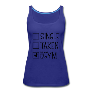 """At the Gym"" Tank (9 fashion colors) - royal blue"