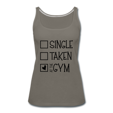 "Load image into Gallery viewer, ""At the Gym"" Tank (9 fashion colors) - asphalt gray"