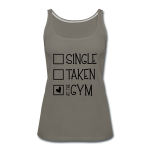 """At the Gym"" Tank (9 fashion colors) - asphalt gray"