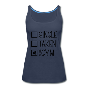"""At the Gym"" Tank (9 fashion colors) - navy"
