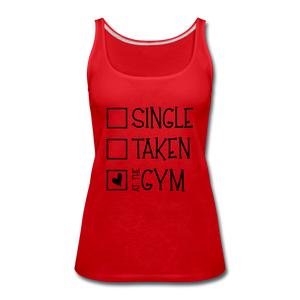 """At the Gym"" Tank (9 fashion colors) - red"