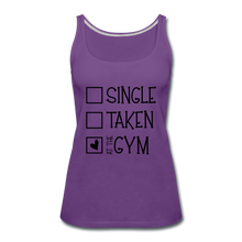 "Load image into Gallery viewer, ""At the Gym"" Tank (9 fashion colors) - purple"