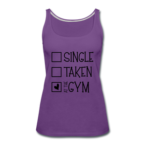 """At the Gym"" Tank (9 fashion colors) - purple"