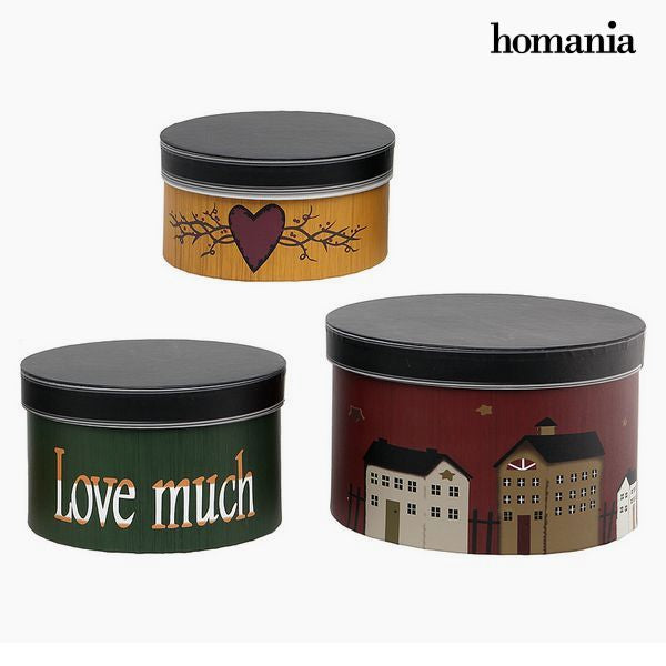 Dekorationslåda Homania 2687 (3 pcs) Rund