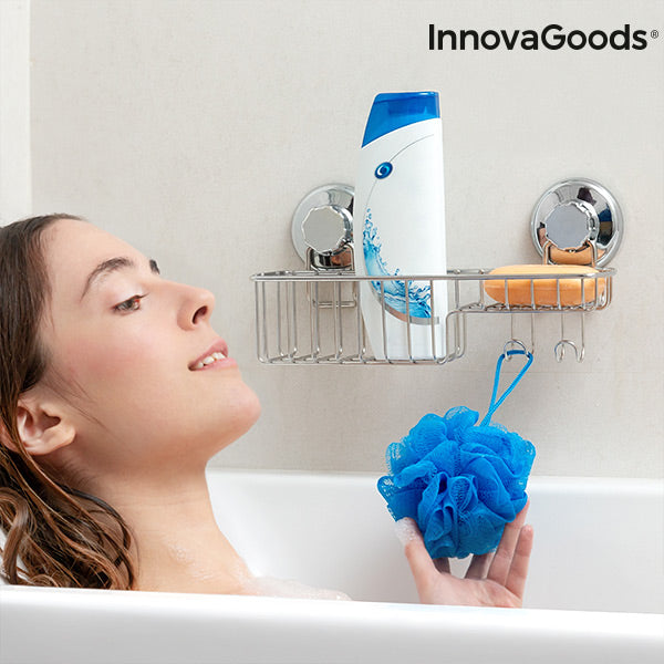 InnovaGoods Shower Organiser with Super Strong Suction Cups