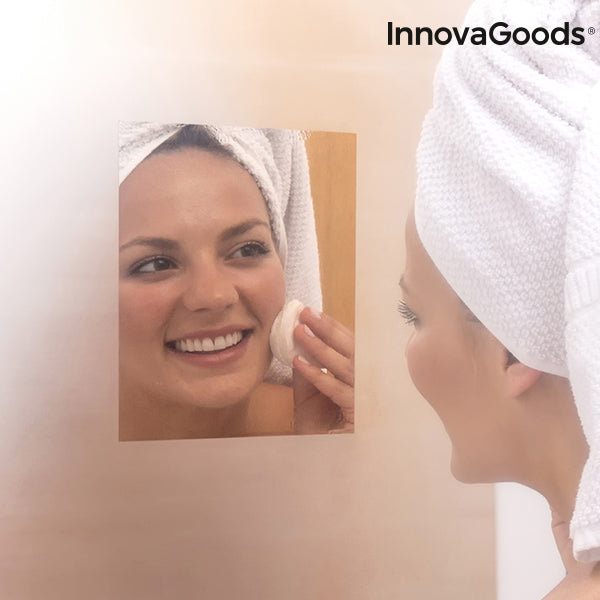InnovaGoods Demisting Mirror Sheet (Pack of 2)
