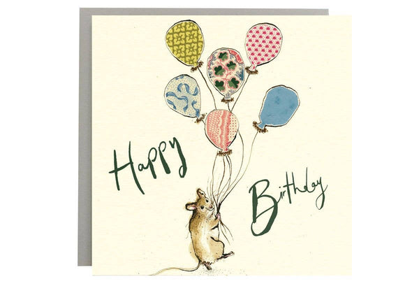 Mouse Happy Birthday Card