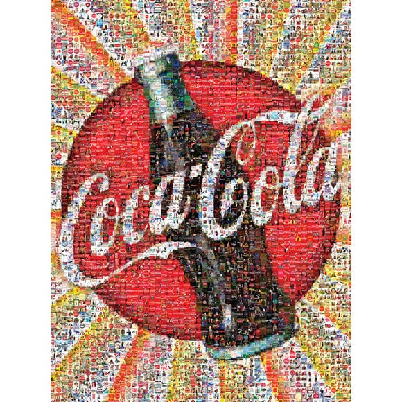 Coca-Cola Photomosaic 1000 Piece Jigsaw Puzzle