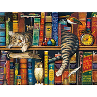 Frederick the Literate by The Cats of Charles Wysocki 750 Piece Jigsaw Puzzle