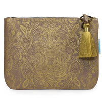 Pocket Clutch - Paisley Gold