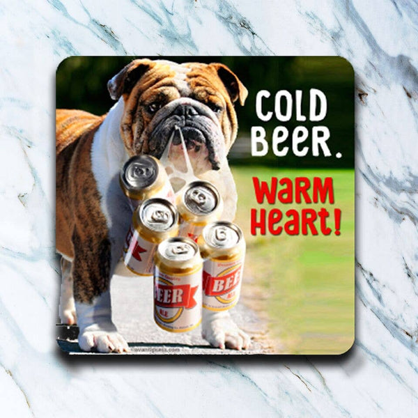 Cold Beer Warm Heart Coaster