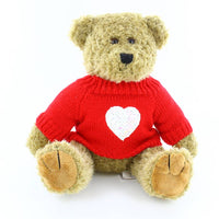 "12"" Oatmeal Bear with Love Sweater"