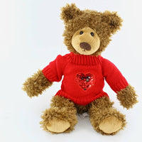 "10"" Frankie Bear with love sweater"