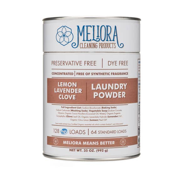 Laundry Powder, 128 HE/64 Std Loads, 0% Plastic.
