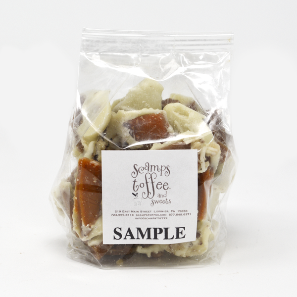 Scamps Toffee - 4 oz Toffee Sample Bag