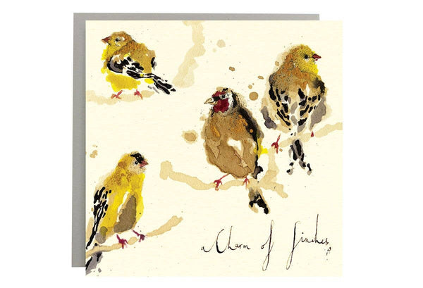 A Charm of Finches Card-Anna Wright