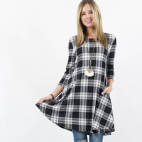 42pops - Plaid Side-pocket tunic