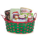 10'' x 8.5'' Bamboo Christmas Basket