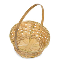 9''x 13'' Natural bamboo basket with small handle