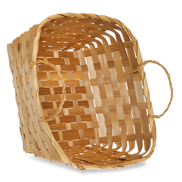 9''x 9'' Wooden Sliver Braided Basket