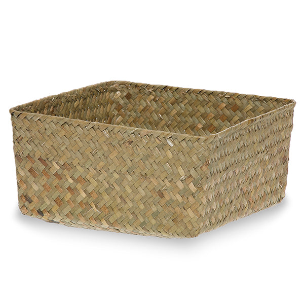 8.5''x 8.5'' Seagrass Baskets, Square-Medium