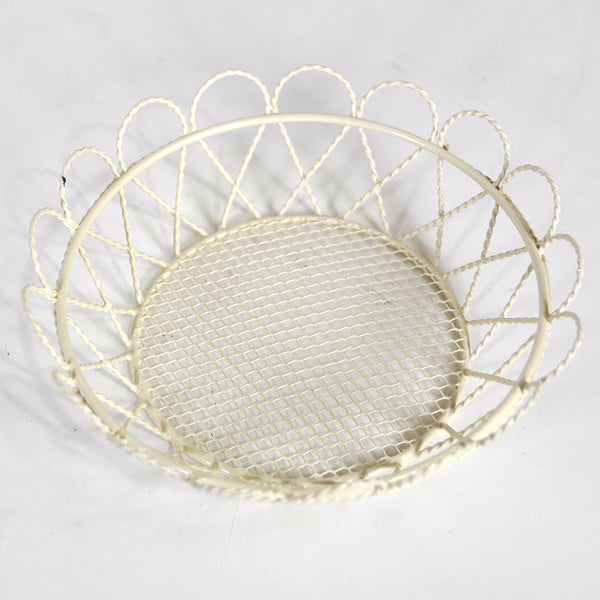 6''x 2'' Fancy Metal Basket, Round-Small