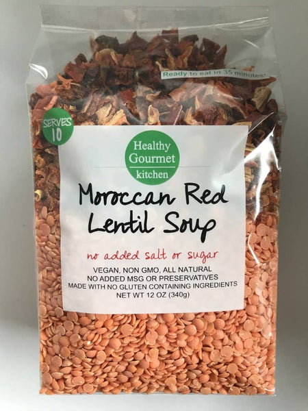 Moroccan Red Lentil Soup Mix -Healthy Gourmet Kitchen