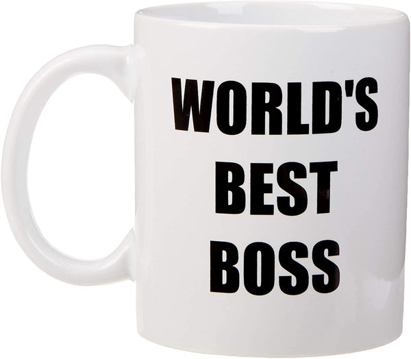"Mug 11oz ""World's Best Boss"" White Ceramic, Hot-Tea, Chocolate, Coffee, Valentine, Birthday, Fathers, Brothers and many other occasions."