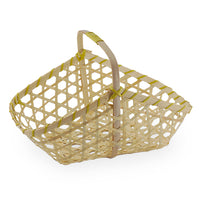 9''x 6'' Bamboo-Brown Braided Basket