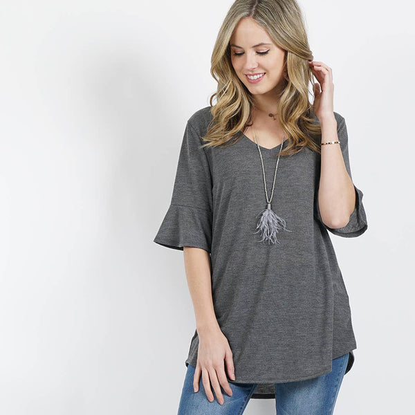 42pops - Bell sleeve v-neck tunic