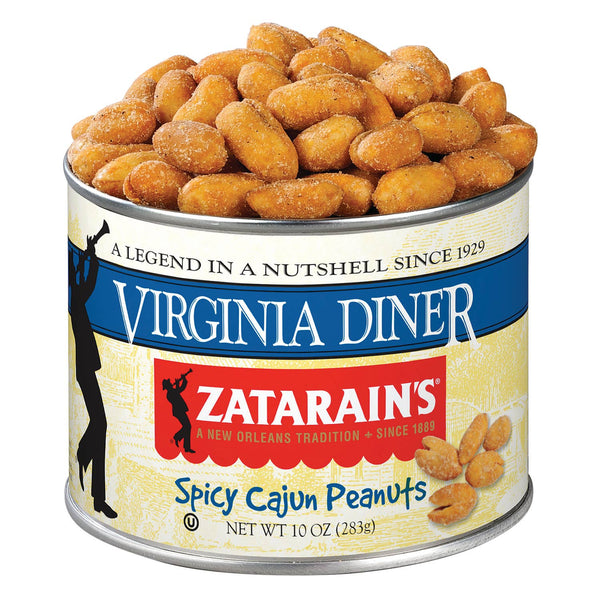 10 oz Zatarain's Spicy Cajun Peanuts-Virginia Diner