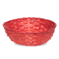 10'' Wooden Red Braided Basket
