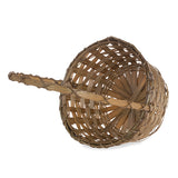 9''x 13'' Braided brown bamboo basket with small handle